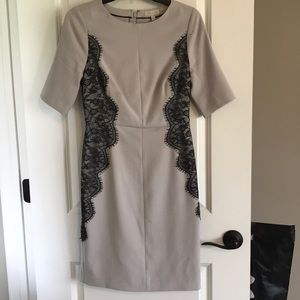 The Limited Dresses - The Limited grey with lace dress